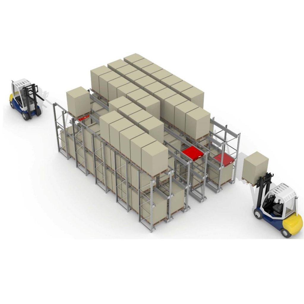 Kệ chứa hàng công nghiệp shuttle rack